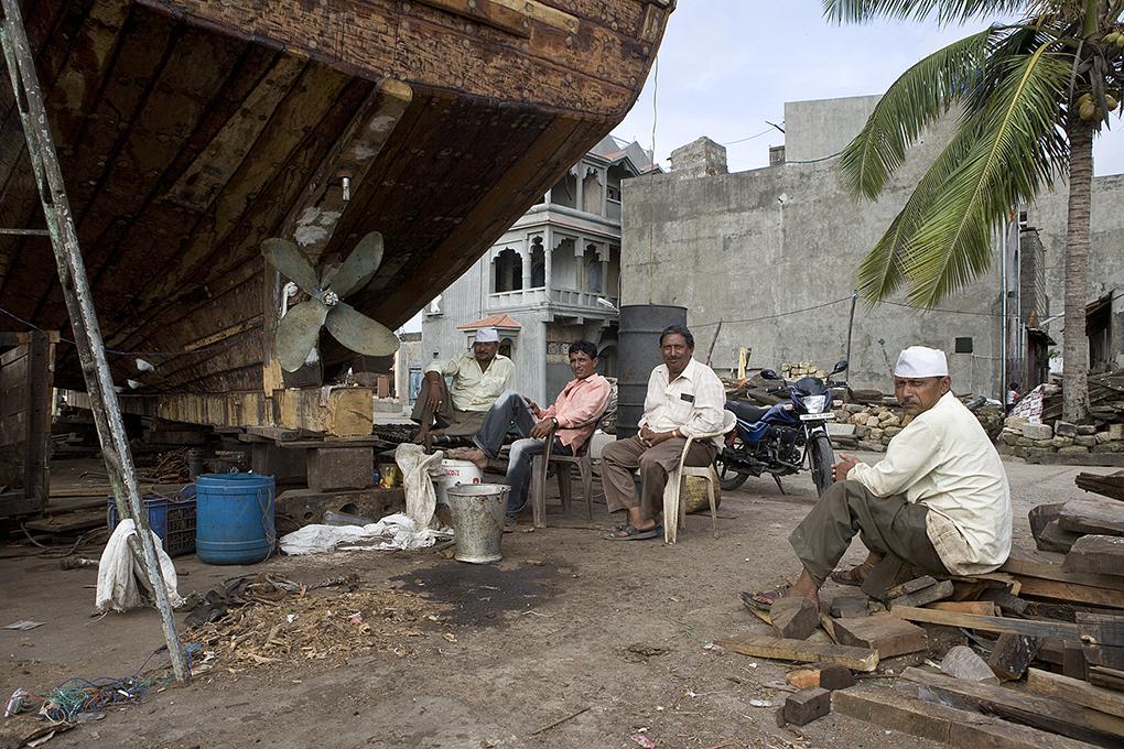 saarshot botenbouwers India Diu eiland Guyarat